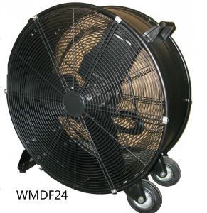 24 Inch Commercial High Velocity Rolling Industrial Drum Floor Fan Axial Fan Ventilation Fan pictures & photos