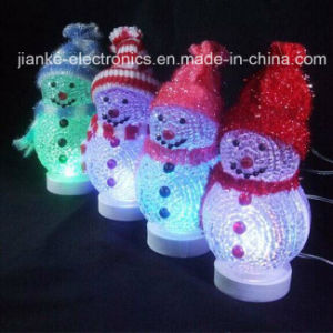 LED Flashing USB Lighted Christmas Snowman with Logo Print (5004) pictures & photos