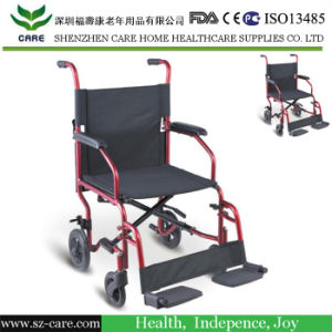 "18"" Aluminum Transport Wheelchair (CCW133) pictures & photos"