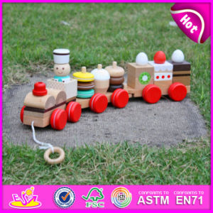 2015 Kids Toys Educational Pull Cart Wooden Block Toy, Wooden Colorful Block Pull Toy, Small Pull Line Block Toys for Sale W05b089 pictures & photos