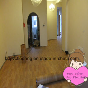 Cheap Linoleum 0.5mm Indoor Plastic Vinyl Flooring pictures & photos