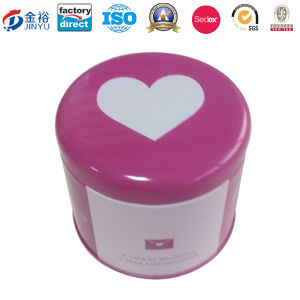 Round Shaped Airtight Lid Metal Cupcake Boxes with Custom Logo pictures & photos