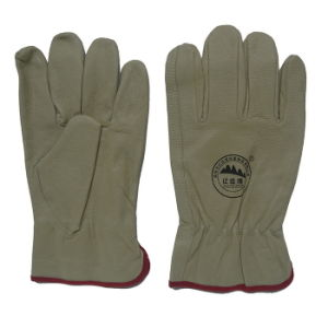 Pig Skin Keystone Thumb Driving Work Glove pictures & photos