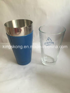 Colorful PVC Boston Shaker /Cocktail Shaker/Mixer with Glass Cup pictures & photos