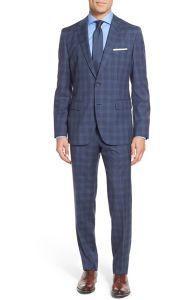 OEM Wholesale Morden-Cut Slim Trim Fit Men′s Windowpane Suits pictures & photos