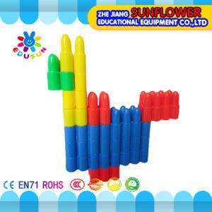 Children Plastic Desktop Toy Bullet Building Blocks pictures & photos