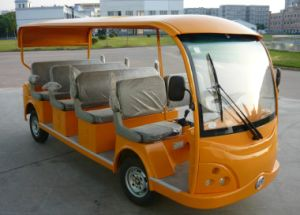 Dongfeng Electric Sightseeing Car for 11 Passengers on Sale pictures & photos