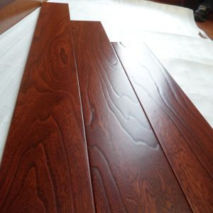 Prefinished Red Color Stain Engineered Elm Wood Flooring