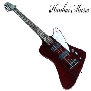Hanhai Music / Dark Red Thunder Bird Electric Bass Guitar with 4 Strings pictures & photos