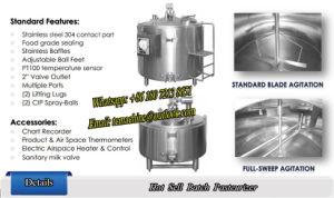 2000L Fresh Milk Batch Pasteurizer pictures & photos