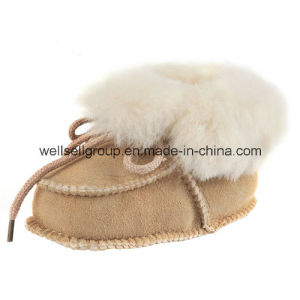 Baby Sheepskin Wool Shoes (CPS-067) pictures & photos