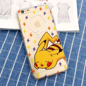 TPU Mobile Phone Case with Embossed Painting Pokemon Go