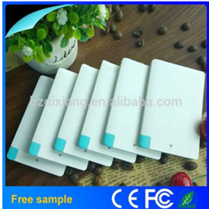 Wholesale China Super Thin Credit Card Power Bank Charger pictures & photos