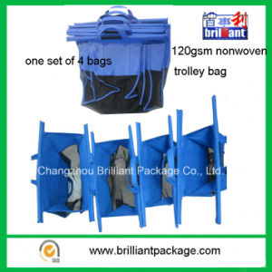 120GSM One Set of Four Bags Nonwoven Trolley Shopping Bag pictures & photos