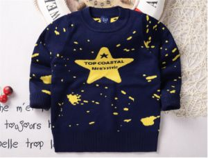 T1203 2015 Spring Autumn Korean Style Baby Knitted Pullover Kids Boys Cotton Star Pattern Sweater Bottoming Shirt Inner Tops for Wholesale pictures & photos