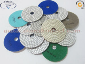 White Polishing Pad for Granite Dry and Wet Use pictures & photos