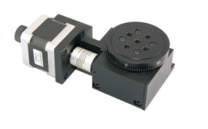 Lsdh-60ws Precision Optical Motorized Stepper Motor Worm Gear Rotating Table pictures & photos