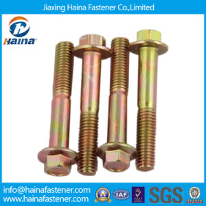 Partial Thread Color Zinc Plated Flange Bolt Without Serrated pictures & photos