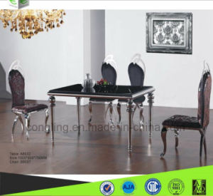 A8032 Luxury Designs Top Glass Dining Table for Home