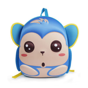 Newest Cute Cartoon Monkey Neoprene Backpack for School Children pictures & photos