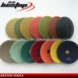 4 Inch Granite Wet Used Convex Flexible Polishing Pads pictures & photos