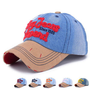 Custom Embroidery Fashion Cotton Denim Baseball Cap (YKY3087) pictures & photos