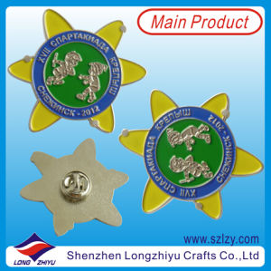 Sun Flower Silver Chelsea Poppy Pin Badge pictures & photos