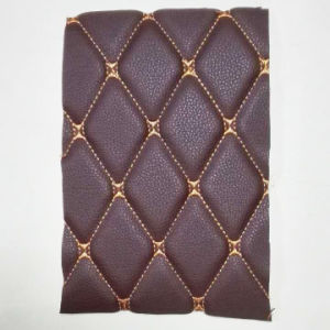 Manufacturer Selling PVC Synthetic Leather for Car Decoration/Embroidery PVC Leather for Car Floor Mat pictures & photos