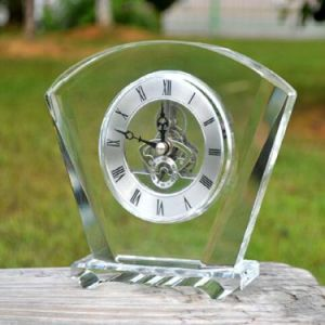 K9 Crystal Glass Clock for Home Decoration pictures & photos