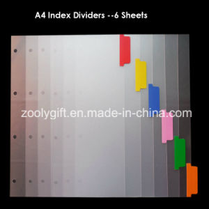 A4 PP Index File Divider Color Index Tab Ring Binders pictures & photos