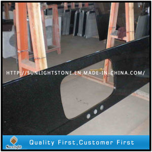 Polished Black Galaxy Granite Paving Slabs for Flooring Tiles/Countertops pictures & photos