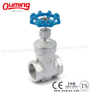 Stainless Steel Gate Valve with Threaded End pictures & photos