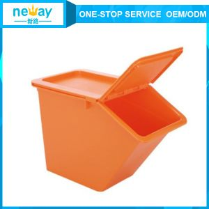 Hot Sale 225*410*280 Yellow Orange Plastic Box pictures & photos