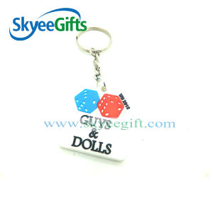 Customized Logo Face PVC Key Chain pictures & photos