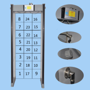 Accurate Detection Walk Through Metal Detector with 24 Etecting Zones pictures & photos