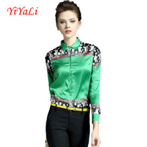 Wholesale Spring&Summer Fashion printing Women Blouse/Shirt