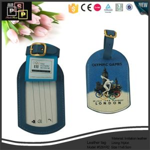China Supplier New Design Cheep Nice Custom Mini PU Leather Luggage Tag (1481) pictures & photos