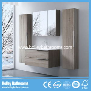 European Style MDF Extravagant Modern Bathroom Furniture with Two Side Vanity (BF112N)