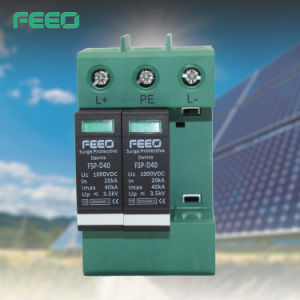 Direct Current Sun System 1000VDC 3phase Surge Protector pictures & photos