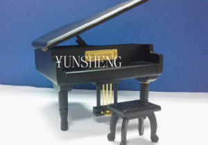 Black Piano with Small Cube Musical Box Elegant Music Box for Birthday Gift (LP-31E) C pictures & photos