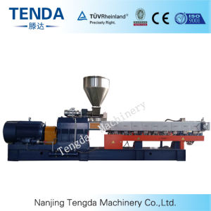 Tsh-75 Masterbatch Plastic Parallel Twin Screw Extrusion Machine pictures & photos