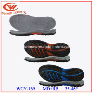 Skid Proof Md+Rb Material Series Sandals Sole with 35-46# pictures & photos