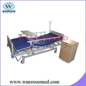 Manual Hospital Bed with Overbed Table pictures & photos