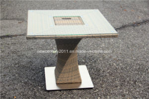 Outdoor Rattan Garden Wicker New Disign Dining Table and Chair pictures & photos