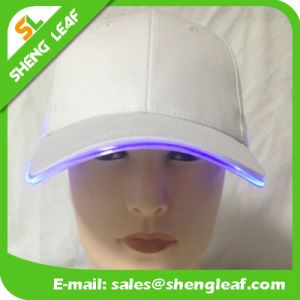 Hot Sale White Brushed Cotton LED Baseball Cap pictures & photos
