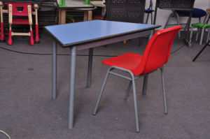 New Style Classroom School Desk and Chair Kid Trapezoid Desk pictures & photos