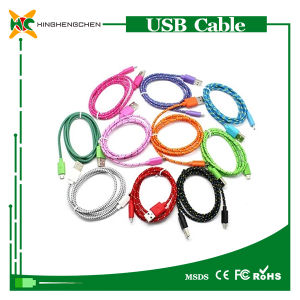 V8 Nylon Braided USB Cable, Micro USB Charging Cable pictures & photos