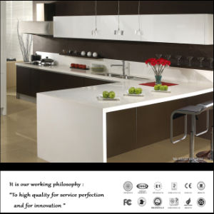White and Black Kitchen Cabinet (FY452) pictures & photos