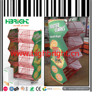 Supermarket Plastic Coated Stacking Wire Basket Shelf pictures & photos
