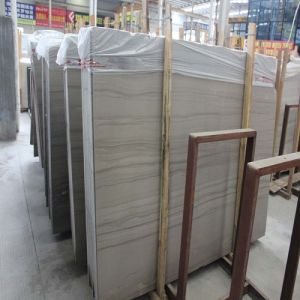 Athens Grey Wooden Grain Marble Slab Stone for Bathroom